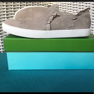 KATE SPADE LILLY LIGHT GREY SUEDE SNEAKERS